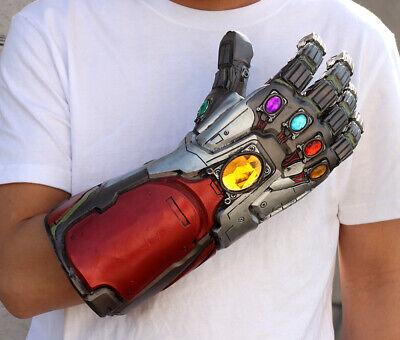 US!Avengers4: Endgame Iron Man Infinity Stone Gauntlet Cosplay Latex Glove Props 7