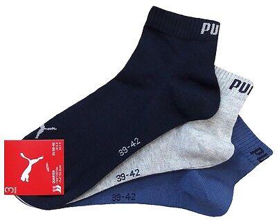 3 Paar PUMA Invisible Quarter - Sneaker Socken Kurzschaftform 1/4 Schaft 3