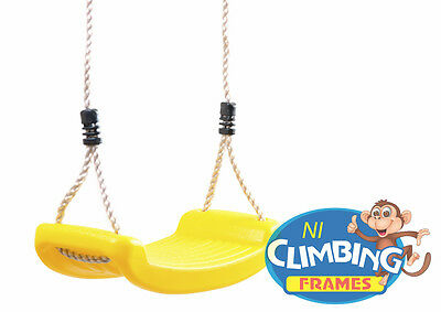 Children's Replacement outdoor Swing Seat Height Adjustable Rope Climbing Frame 4