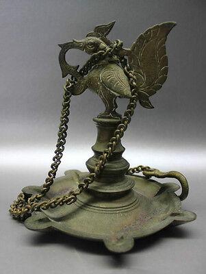 B.C.A.D ART- 17th CENTURY BRONZE TEMPLE LAMP