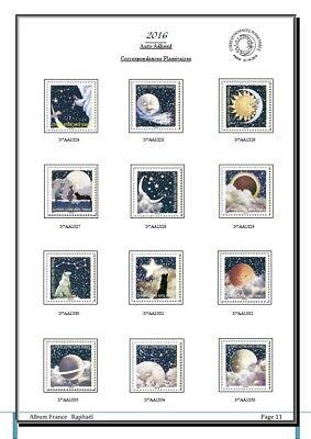 Album de timbres Auto-adhésif France 2016 à imprimer 2