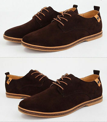 2018 Suede European style leather Shoes Men/'s oxfords Casual Multi Size Fashion