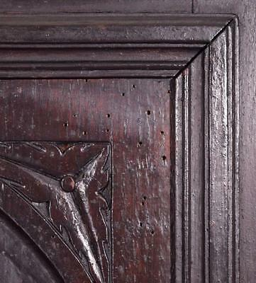 *Large French Antique Deeply Carved Architectural Panel Door Solid Oak Romantic 6
