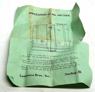 New Old Stock Vintage Gravity Latch For Overhead Garage Door Sets Dm 4