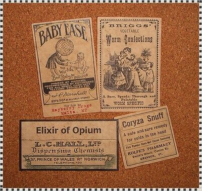 13 POISON VINTAGE LOOK VICTORIAN APOTHECARY LABELS Halloween/Steampunk/Primitive 4