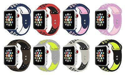 Replacement Silicone Sport Band 38mm 42mm For Nike+ Apple Watch Series 1 2 3 4 2