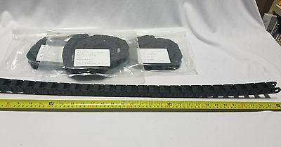 Lot of 4 IGUS Energy Chain Cable Carrier 10-015-038-MC Snap Open, SKBAWA-000