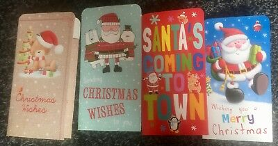 Packs Christmas Money Wallets Gift Voucher Presents Self Sealing 1,4, 6 EASTER 2