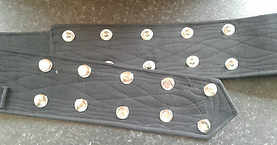 Sikh Nihang Singh Khalsa Adjustable Belt Kamarkasa with Loop - Black Waist Belt 2
