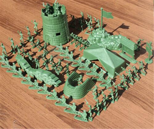 100X 4cm Armee-Kampf Männer Plastiksoldaten Figur AktionKid-Geschenk-SpielzeugZP