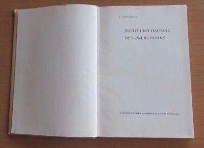 DDR Buch Zucht Haltung Zwerghuhn Rassen Geflügelpest Stall Tränke Heizung Futter