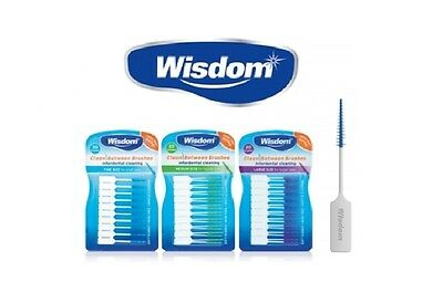 Wisdom Clean Between Interdental Brushes Wire Free - Pack of 20-3 Sizes S/M/L 3