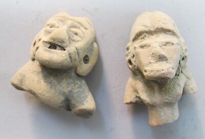 Collection of 10 Ancient PRE-COLUMBIAN Terra Cotta Busts  800 AD (or earlier) 6 • CAD $378.00