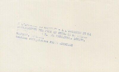 Académie de Médecine, 2 photos argentiques Meurisse circa 1932 4