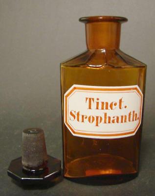 Apothekenflasche / Standgefäß Tinct. Strophant. 2