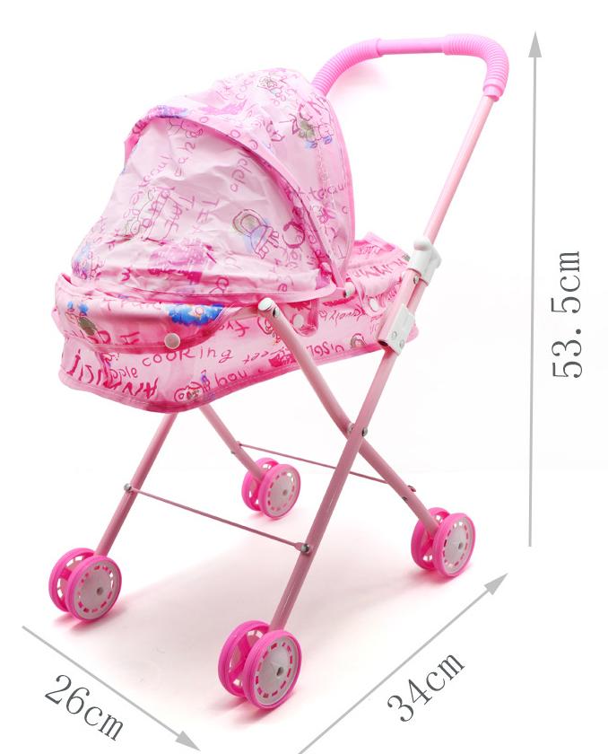 Baby Kids child Dolls Buggy Stroller Jogger Dolls Pram Pushchair Girls Toy UK 9