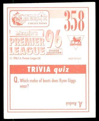 #358-WEST HAM UNITED-STEVE POTTS MERLIN-1996-PREMIER LEAGUE 96