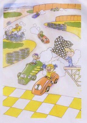 "Friseurumhang für Kinder - Kinderumhang - Frisierumhang ""Auto"""