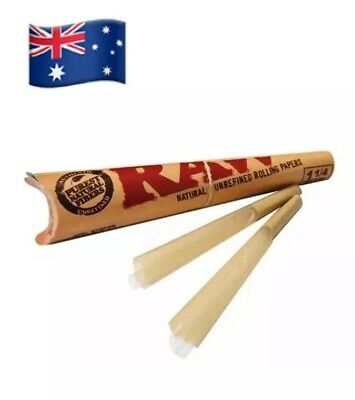 2X RAW Pre-Rolled Classic Hemp Cones - 6 Cones Per Pack Total 12 Papers  1 1/4 4