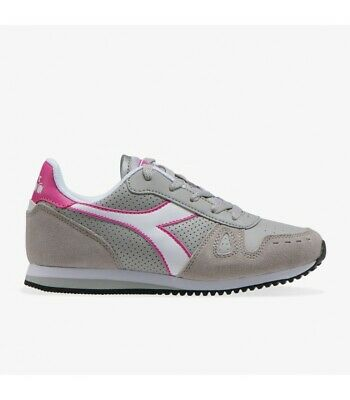 Scarpe donna diadora Simple run rosa 50152 GS sneakers sportive nuovo camoscio