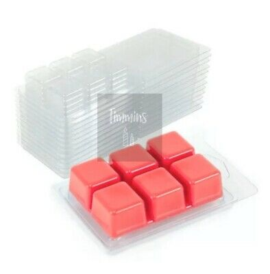 100 Wax Melt Clamshell Moulds - Made from recycled Plastic. Empty 22mm Deep 2