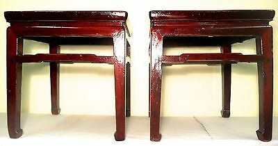 Antique Chinese Ming Meditation Bench/End Table (5315)(Pair), Circa 1800-1849 5