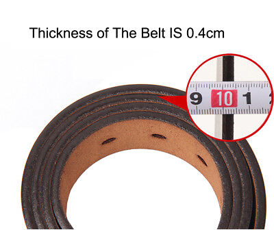 """Mens Belt Genuine Leather Belts For Dress & Jeans Big & Tall Wasit Size 28""""-64"""" 9"""