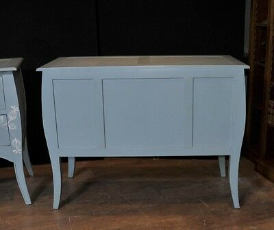 Pair French Painted Commodes Chest Drawers Shabby Farmhouse 9