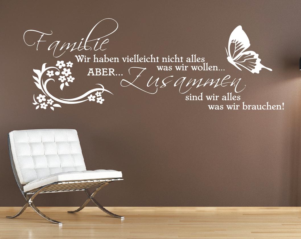 Spruch Wandtattoo Familie Wir haben Zusammen Sticker Wandaufkleber Spüche 1