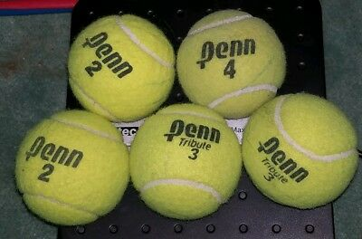 5 Dead Used Tennis Balls Dog Toys Fetch Catch Walkers Garage Corner Safety 2