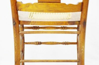 Early Oak Cane Seat Splat Back Accent Chair 9
