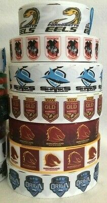 Rugby Teams Grosgrain Ribbons all Designs Sold by 2m see listing for details 4