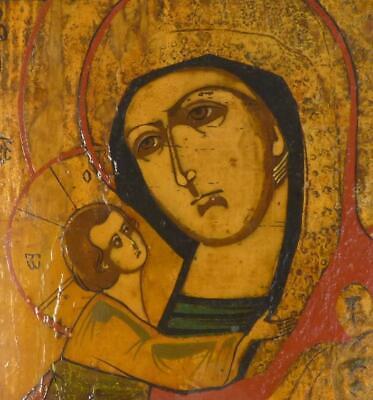 M049 ANTIQUE RUSSIAN ICON FEODOROVSKAYA MOTHER OF GOD b 4