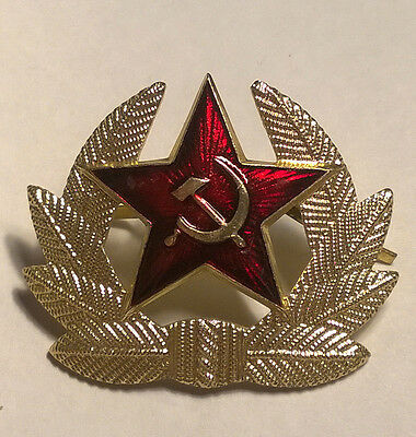 72e6b2e64dd ... 4 of 8 Authentic Russian Army Winter Ushanka Hat + Badge Red Star with  Hammer   Sickle 5
