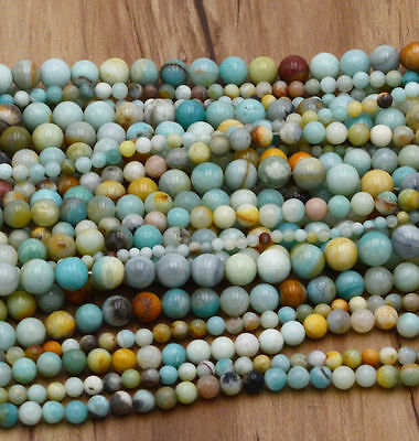 New Wholesale Natural Gemstone Round Spacer Loose Beads 4MM 6MM 8MM 10MM 12MM 2