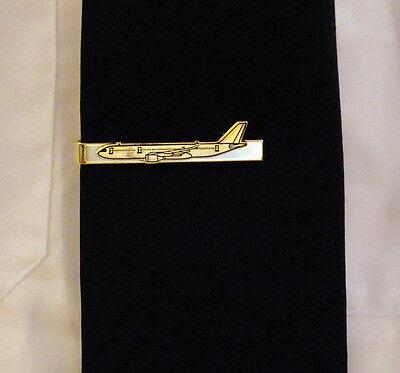 Tiebar Airbus A330 GOLD AIRPLANE Pilots Crew Maintenance metal tie clip clasp
