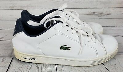 076c67d0fc105a ... 1 of 12 Lacoste Men s Leather Size 11 White Sport shoes Sneakers  driving Shoes casual 4