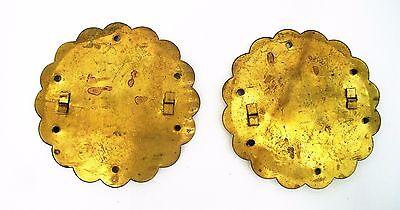 PAIR....Antique Hardware Brass Drawer Pull Trunk Part Chest Handle Salvaged Part 12