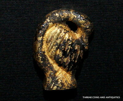 Ancient Egyptian Gold Amulet In The Form Of A Goose With Recurved Neck! 332-30Bc 2