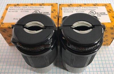 2 Units High Quality, NEMA L15-30 Locking Connector, UL listed 2
