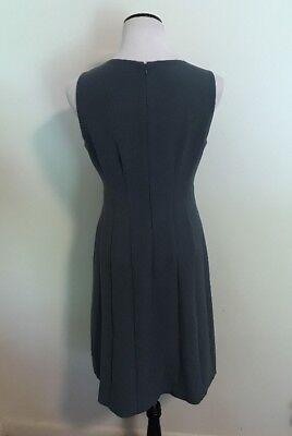 37d2c61fe2b6 ... Ann Taylor Loft Blue sleeveless A-line flare dress Medium Size 8 Lined  women's 4