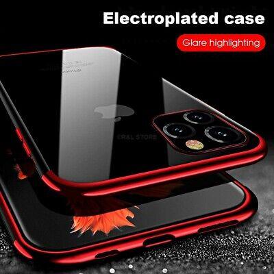 COVER per Iphone 11 / Pro Max CUSTODIA CASE TPU SLIM ELECTRO VETRO