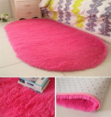 Fluffy Rugs Anti-Skid Shaggy Area Rug Dining Room Carpet Floor Mat Home Bedroom 10