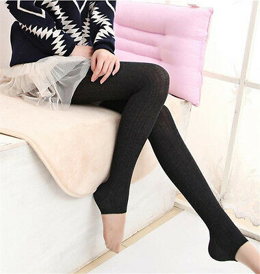 Women Winter Cable Knit Sweater Footed Tights Warm Stretch Stockings Pantyhose j 11