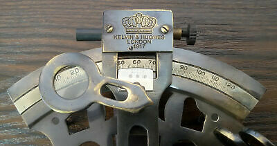 Brass Maritime SEXTANT Nautical Style Solid KELVIN & HUGHES Antique Brass Ship 4