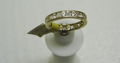 14K Yellow Gold Channel Set Baguette/Round Cubic Zirconia Ring Size 8 G32-R 3