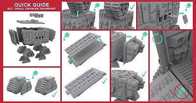 Sand Crawler Transport Star Wars Legion 40K Necromunda Compatible Terrain