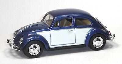 Modellauto Metall Spritzguss pastellrosa 1967 weiß 12,5cm KINSMART VW Käfer
