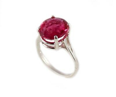 Red Sapphire Ring 5¼ct Antique 19thC Medieval Sorcery Psychic Anti-Black Magic 7