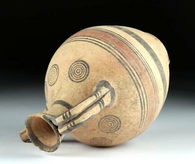 Cypriot Terracotta Spouted Jug - Target Motifs Lot 12G